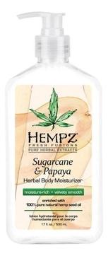 Фото - HEMPZ Молочко Sugarcane & Papaya Herbal Body Moisturizer для Тела Сахарный Тростник и Папайя, 500 мл hempz молочко original herbal moisturizer для тела увлажняющее оригинальное 500 мл