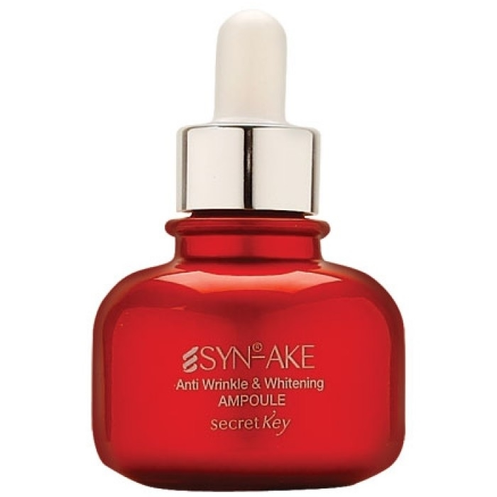 Secret Key Сыворотка Syn-Ake Anti Wrinkle Whitening Ampoule Антивозрастная для Лица с Пептидом, 30 мл