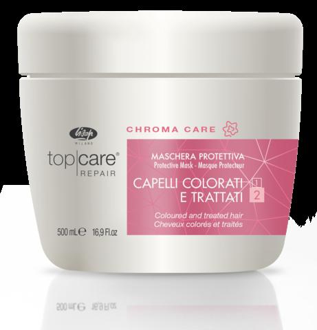 Lisap Защитная Маска для Окрашенных, Поврежденных Волос Top Care Repair Chroma Protective Mask, 500 мл