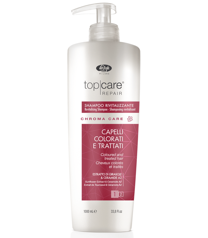 Lisap Шампунь Оживляющий для Окрашенных Волос Top Care Repair Chroma Revitalizing Shampoo, 1000 мл