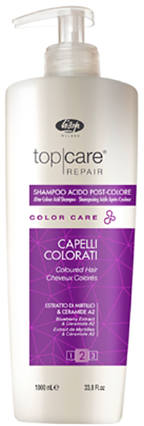 Lisap Стабилизатор Цвета Top Care Repair Color After Acid Shampoo, 1000 мл
