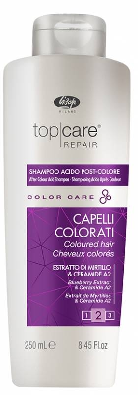 Lisap Стабилизатор Цвета Top Care Repair Color After Acid Shampoo, 250 мл