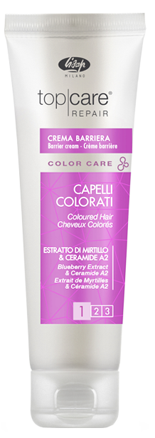 Lisap Крем для Защиты Кожи Головы от Окрашивания Top Care Repair Color Care Barrier Cream, 150 мл крем для кожи головы