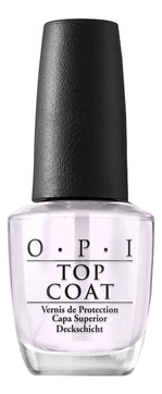 OPI Покрытие Top Coat Верхнее, 15 мл opi верхнее покрытие top coat 15 мл бесцветный