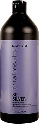MATRIX Шампунь Total Results Color Obsessed So Silver Shampoo для Нейтрализации Желтизны у Блондинок Сильвер, 1000 мл