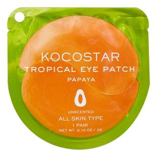 Kocostar Патчи Tropicla Eye Patch Papaya Single Гидрогелевые для Глаз Тропические Фрукты Папая, 1 пара недорого