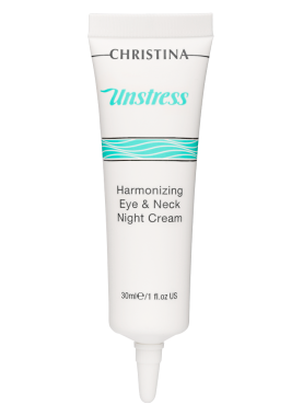 Christina Крем Unstress Harmonizing Eye & Neck Night Cream  Гармонизирующий Ночной для Кожи Век и Шеи, 30 мл