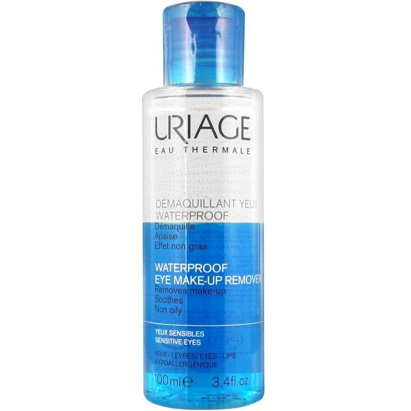 Uriage Средство Waterproof Eye Make-Up Remover для Снятия Водостойкого Макияжа с Глаз Флакон, 100 мл