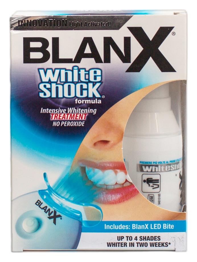 Blanx Зубная Паста Отбеливающий Уход+Световой Активатор Whith Shock Treatment+Led Bite, 50 мл
