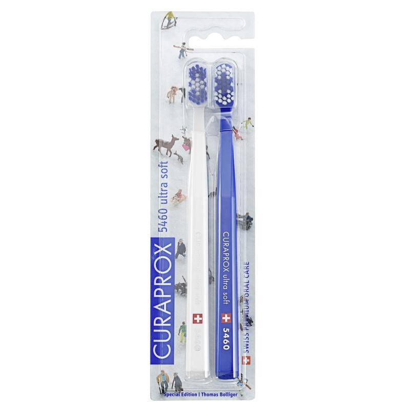 Curaprox Набор Winter2 Зубных Щеток Ultrasoft Белая, Синяя, d 0,10 мм, 2 шт