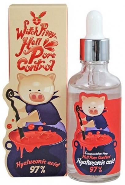 Elizavecca Сыворотка Witch-Piggy Hell-Pore Control Hyaluronic Acid 97% Serum для Лица с Гиалуроновой Кислотой, 50 мл сыворотки ace of face сыворотка для кожи вокруг глаз с гиалуроновой кислотой 15 мл
