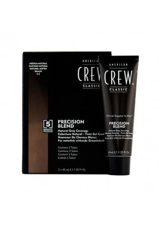 American Crew Краска для Седых Волос Precision Blend Ср.Натуральный 4/5, 3x40 мл цена