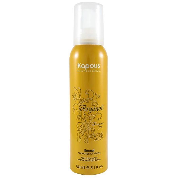 Kapous Arganoil Мусс для Укладки Волос Нормальной Фиксации с Маслом Арганы, 400 мл kapous масло арганы для волос arganoil 75 мл