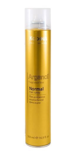 цена на Kapous Arganoil Лак Аэрозольный для Волос Нормальной Фиксации с Маслом Арганы, 500 мл