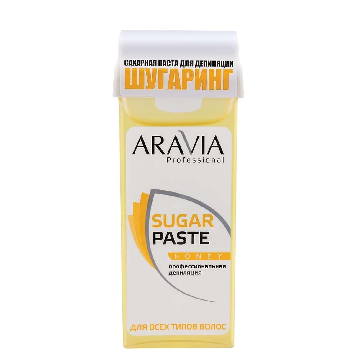 ARAVIA Паста  Sugar Paste Сахарная для Депиляции в Картридже Медовая Очень Мягкой Консистенции, 150 гр