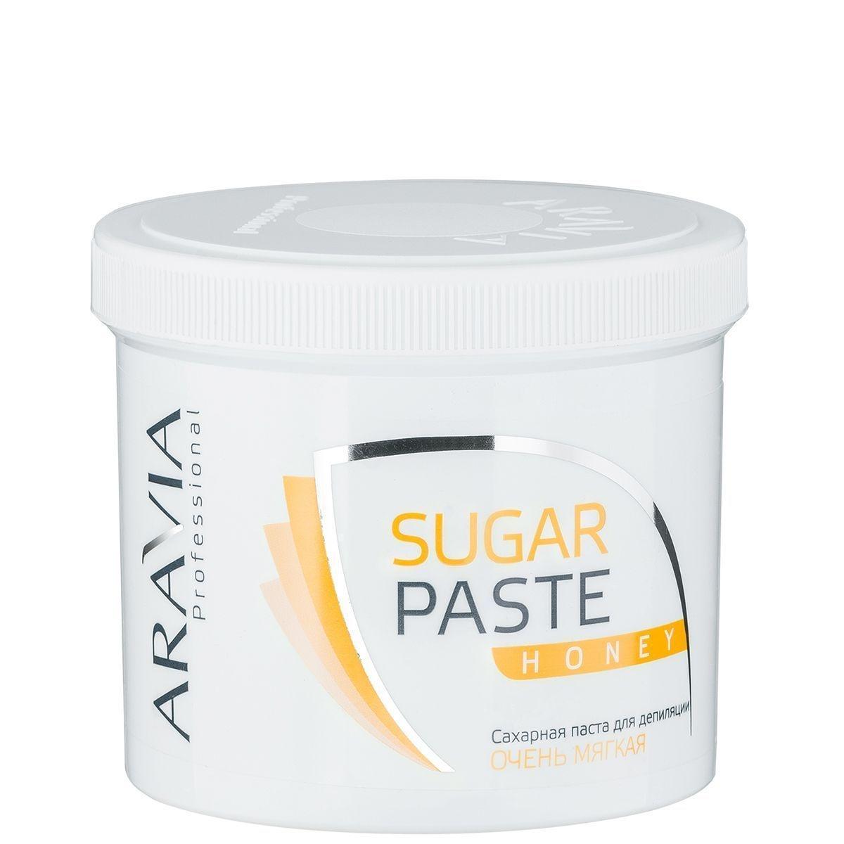 ARAVIA Паста  Sugar Paste Сахарная для Депиляции Медовая Очень Мягкой Консистенции, 750 гр