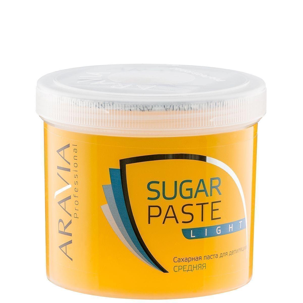 ARAVIA Сахарная Паста для Депиляции Легкая Средней Консистенции, 750 гр сахарная паста для депиляции мягкая и легкая мягкой консистенции aravia professional 750 гр