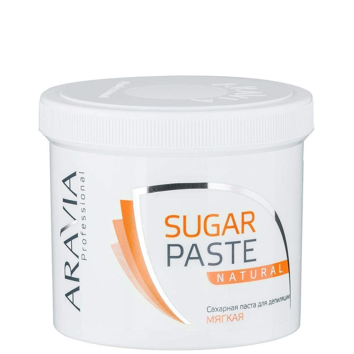 ARAVIA Сахарная Паста для Депиляции Натуральная Мягкой Консистенции, 750 гр сахарная паста для депиляции медовая очень мягкой консистенции 750 гр