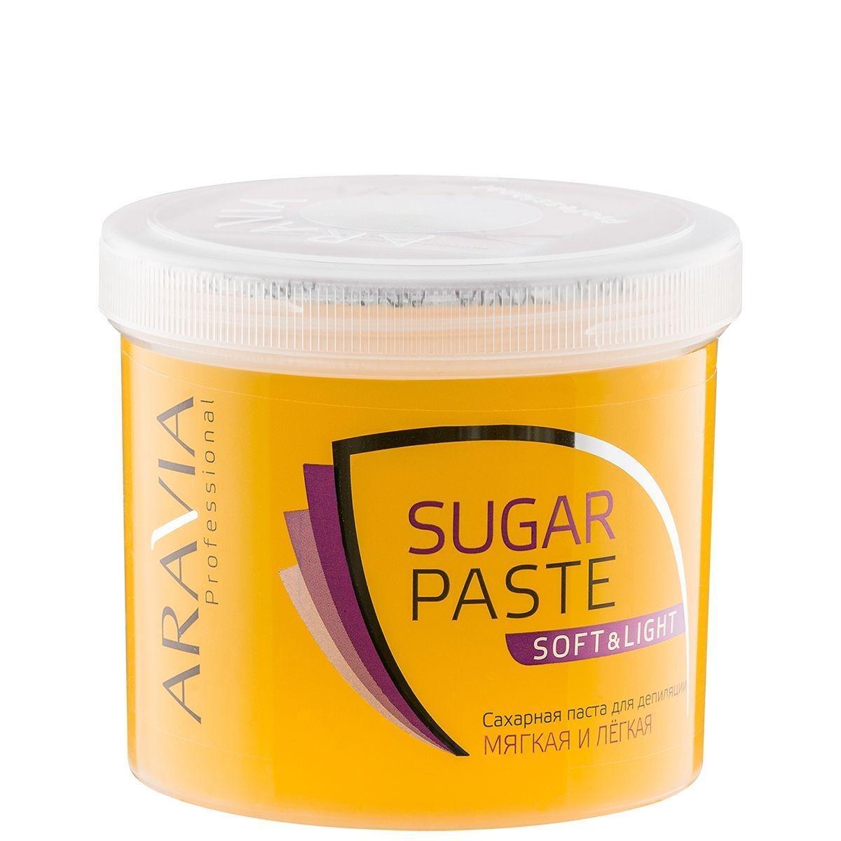 ARAVIA Паста  Sugar Paste Сахарная для Депиляции Мягкая и Легкая Мягкой Консистенции, 750 гр