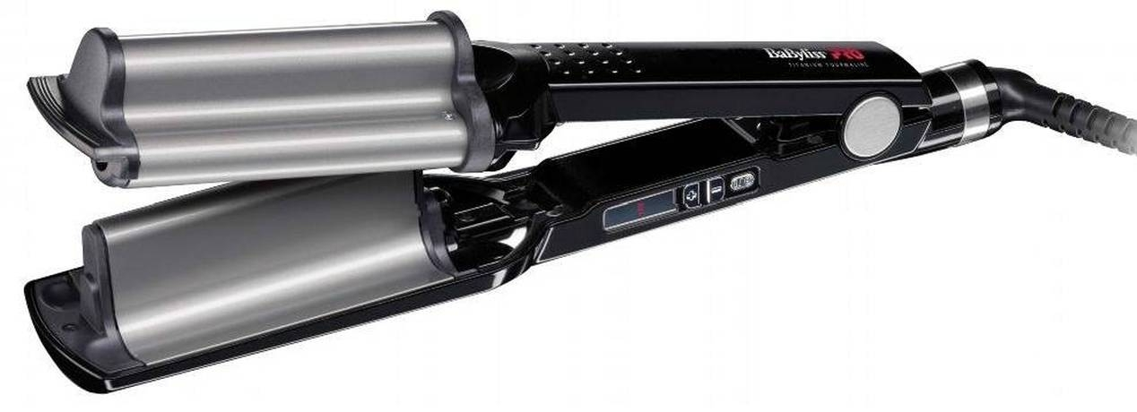 BABYLISS Щипцы для Создания Глубоких Волн с Терморегулятором Титан+Турмалин