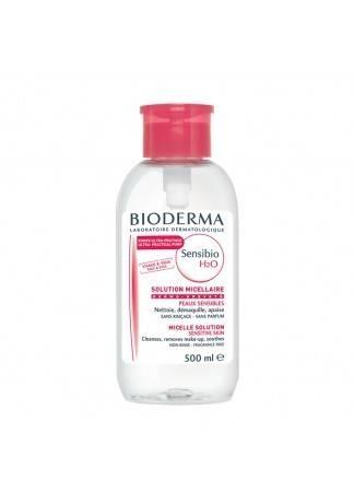Bioderma Очищающая Вода Флакон Помпа Сенсибио, 500 мл очищающая вода sensibio h2o флакон помпа 500 мл розовая крышка