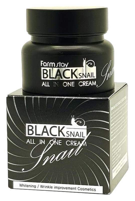 FarmStay Крем для Лица с Муцином Черной Улитки Black Snail All in One Cream, 100 мл крем для рук с муцином nanamus nanamus hand cream snail