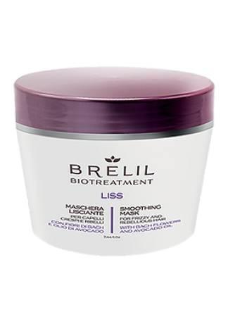 Brelil Professional Маска разглаживающая Bio Traitement Liss Mask, 250 мл brelil numero liss маска разглаживающая с маслом авокадо для пушистых и непослушных волос 300 мл