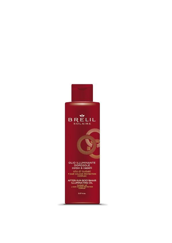 Brelil Professional Масло Solair для Волос и Тела после Пребывания на Солнце Сияющего Эффекта, 150 мл