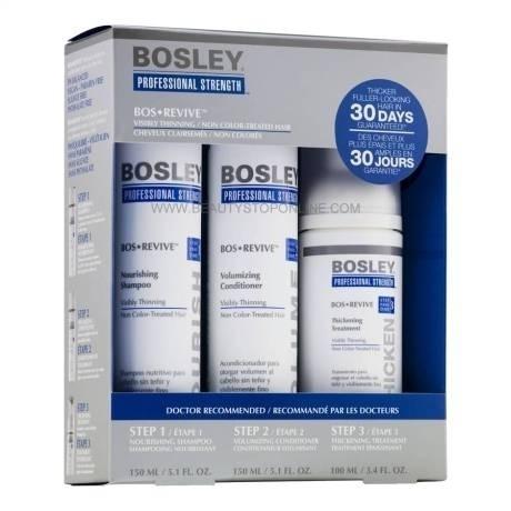 Bosley Система Синяя для Истонченных Неокрашенных Волос (Шампунь 150мл+кондиционер 150мл+уход100мл) биоарон с сироп 150мл
