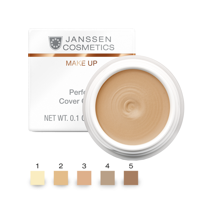 Janssen Тональный Крем-Камуфляж Тон 5 Perfect Cover Cream, 5 мл l a girl тональный крем perfecting liquid makeup buff 29 5 мл