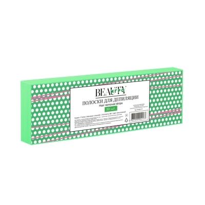 IGRObeauty Бумага в Полосках для Депиляции, Зеленая 7х22 см, 50 шт