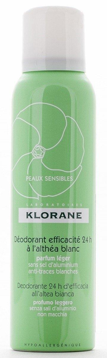 Klorane Дезодорант Спрей с Белым Алтеем 24 Часа Эффективности, 125 мл дезодорант антиперспирант спрей bioderma sensibio 50 мл для чувствительной кожи контроль 24 часа