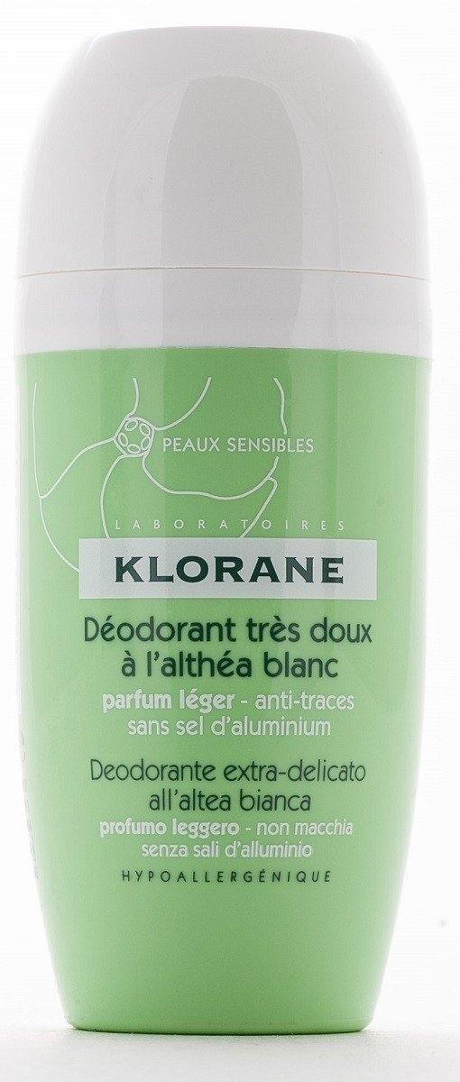 Klorane Дезодорант Шариковый Сверхмягкий с Белым Алтеем, 40 мл дезодорант шариковый fa чувственная роза 50 мл