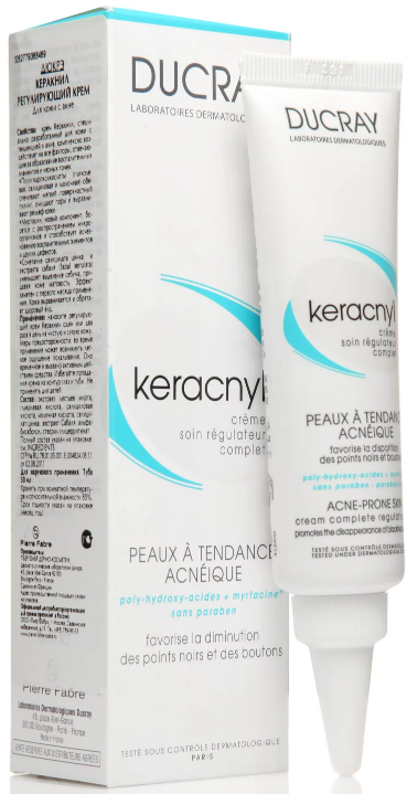 Ducray Крем Keracnyl Регулирующий Керакнил, 30 мл ducray keracnyl gel