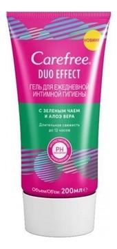Carefree Гель Duo Effect для Ежедневной Интимной Гигиены с Зеленым Чаем и Алоэ Вера, 200 мл