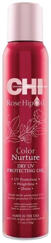 CHI Финишное масло с экстрактом шиповника и защитой от УФ Rose Hip Oil, 157 мл chi rose hip oil color nurture protecting conditioner кондиционер для защиты цвета с маслом дикой розы и кератином 340 мл