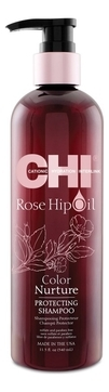 CHI Шампунь с маслом шиповника Rose Hip Oil, 340 мл chi сухой шампунь take 2dry shampoo kardashian beauty black 159 мл