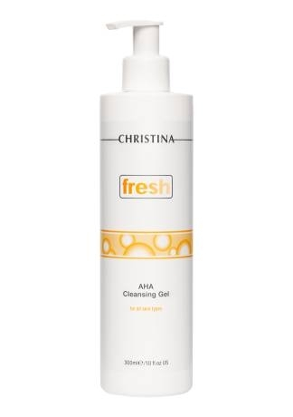 Christina Гель Fresh AHA Cleansing Gel for all Skin Types  Очищающий с Фруктовыми Кислотами для всех Типов Кожи, 300 мл