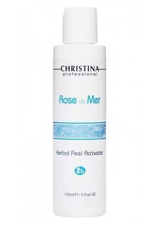 Christina Rose de Mer Натуральный активатор для разведения порошка (шаг 2b), 150 мл набор роз де мер для постпилингового ухода 5 препаратов christina rose de mer