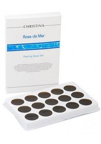 Christina Rose de Mer Пилинговое Мыло (Набор 15шт) 450 Гр. набор роз де мер для постпилингового ухода 5 препаратов christina rose de mer