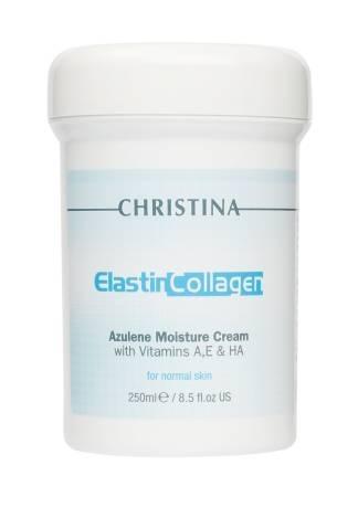 Christina Крем ElastinCollagen Azulene Moisture Cream with Vitamins A, E & HA for Normal Skin Увлажняющий Азуленовый с Коллагеном и Эластином для Нормальной Кожи, 250 мл