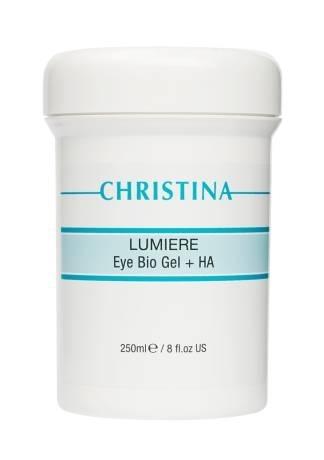Christina Био-гель Lumiere Eye Bio Gel + HA для кожи вокруг глаз с гиалуроновой кислотой, 250 мл christina line repair theraskin ha