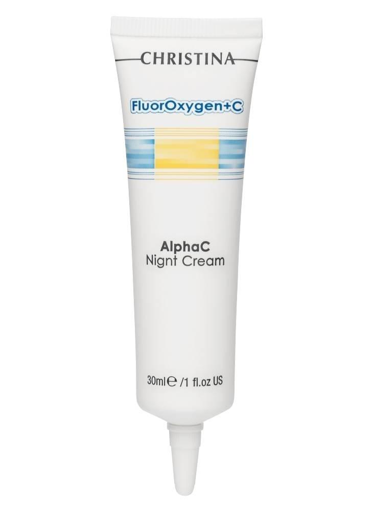 Christina Крем FluorOxygen+C AlphaC-Night Cream Ночной Осветляющий Для Домашнего Использования, 30 мл