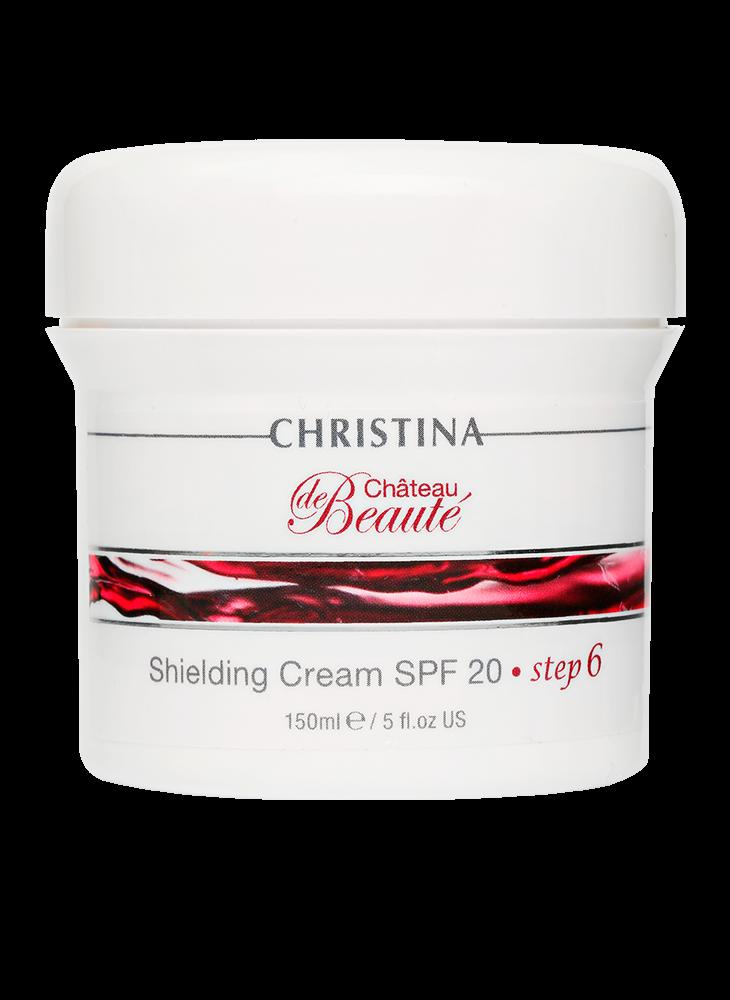 Christina Крем Chateau de Beaute Shielding Cream SPF Защитный 20 (шаг 6), 150 мл christina muse shielding day cream spf 30 защитный дневной крем шаг 8 150 мл