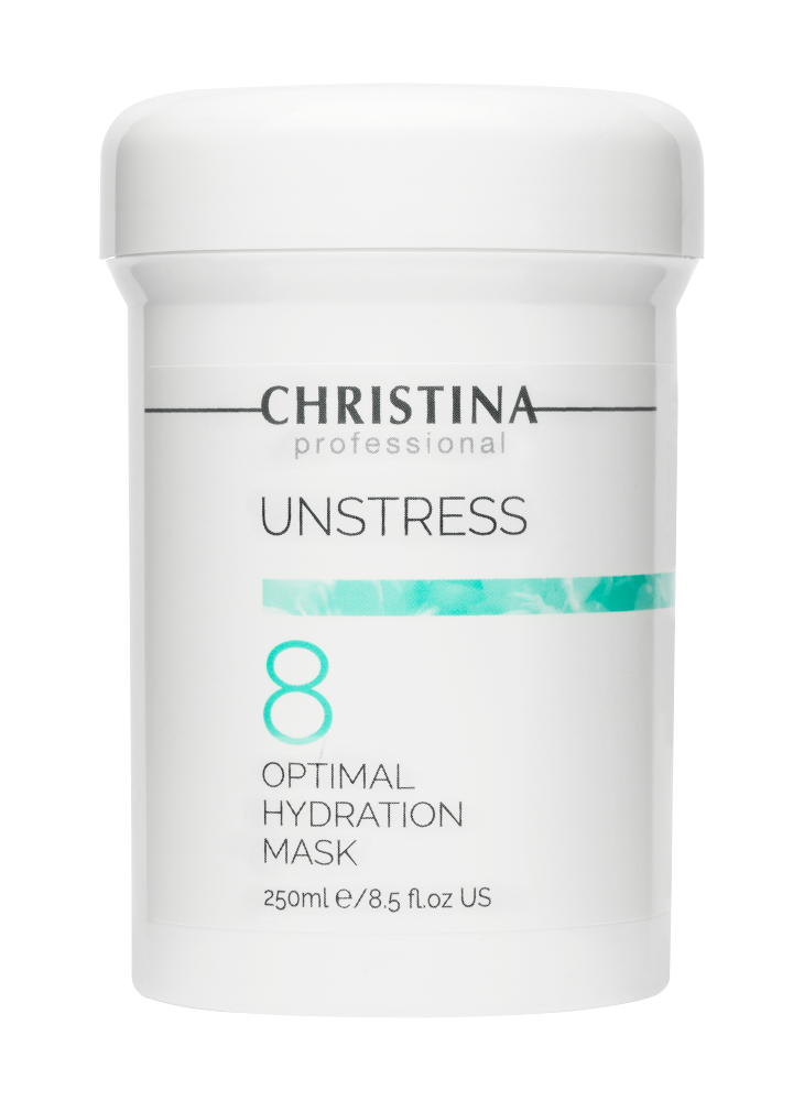 Christina Маска Unstress Optimal Hydration Mask Оптимальная Увлажняющая (Шаг 8), 250 мл wish invigorating mask укрепляющая маска кристина виш шаг 5 250 мл