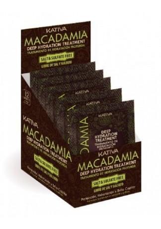 Интенсивно Увлажняющая Маска для Нормальных и Поврежденных Волос Macadamia , 12 шт*35г