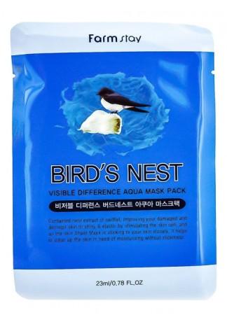 Маска Тканевая для Лица Увлажняющая с Экстрактом Ласточкиного Гнезда Visible Difference Bird's Nest Aqua Mask Pack, 23 мл