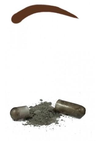 Синтетическая Краска-Хна в Капсулах для Бровей (Тем-Коричневая) Eyebrow Tint Dark Brown, набор 15 капсул