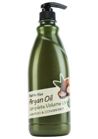 Шампунь-Кондиционер с Аргановым Маслом Argan Oil Complete Volume Up Shampoo & Conditioner, 1000 мл