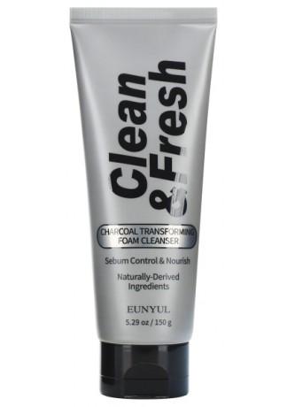 Очищающая Пенка-Трансформер с Древесным Углем Clean & Fresh Charcoal Transforming Foam Cleanser, 150 г